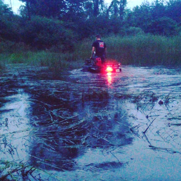 @tomdrich testing out his custom snorkel. #swampdonkeys