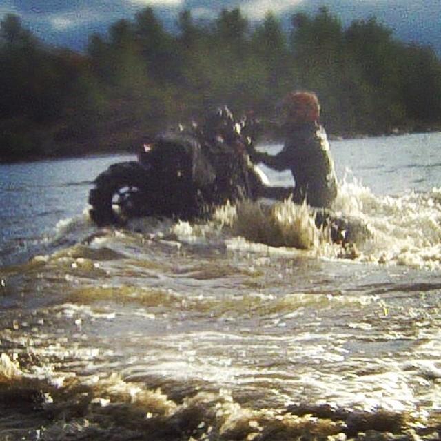 Water wheelie #swampdonkeys style - wish it was more clear