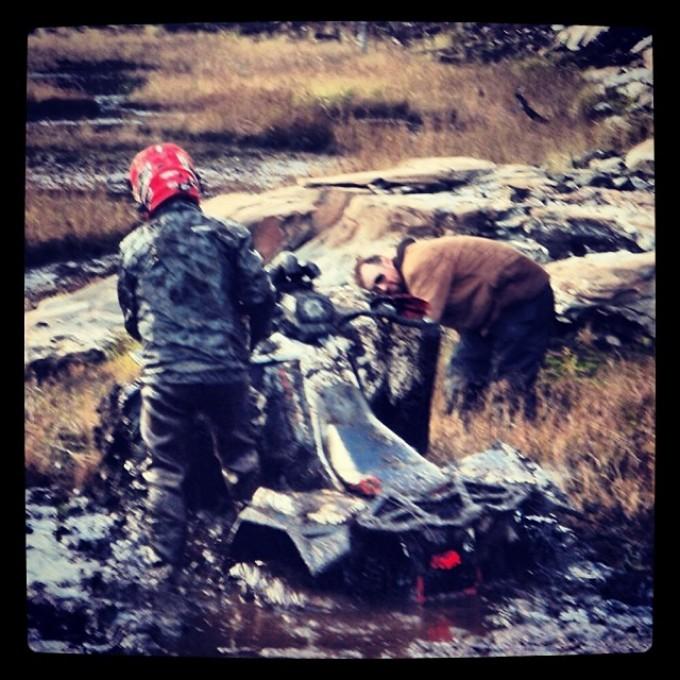 Uh, Ranger, this isn't good. You have a roll pin. #scrambler850 #swampdonkeys