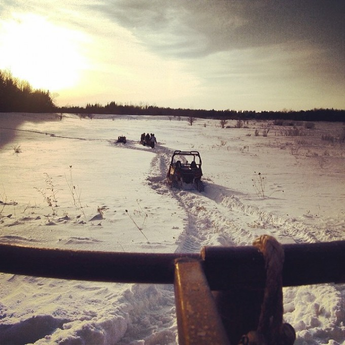 At one point we were all stuck to far from each other to use winches. #swampdonkeys