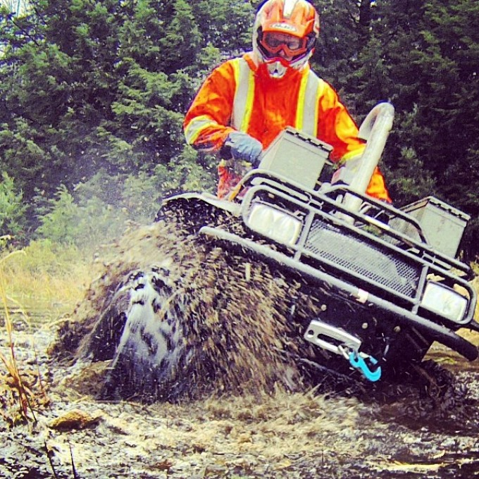 #swampdonkeys #arcticcat @tomdrich ripping it up and blazing new trails #canada