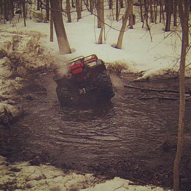 Whoops. Chris going head over heels. Video coming later on our blog www.swampdonkeys.ca #swampdonkeys #honda