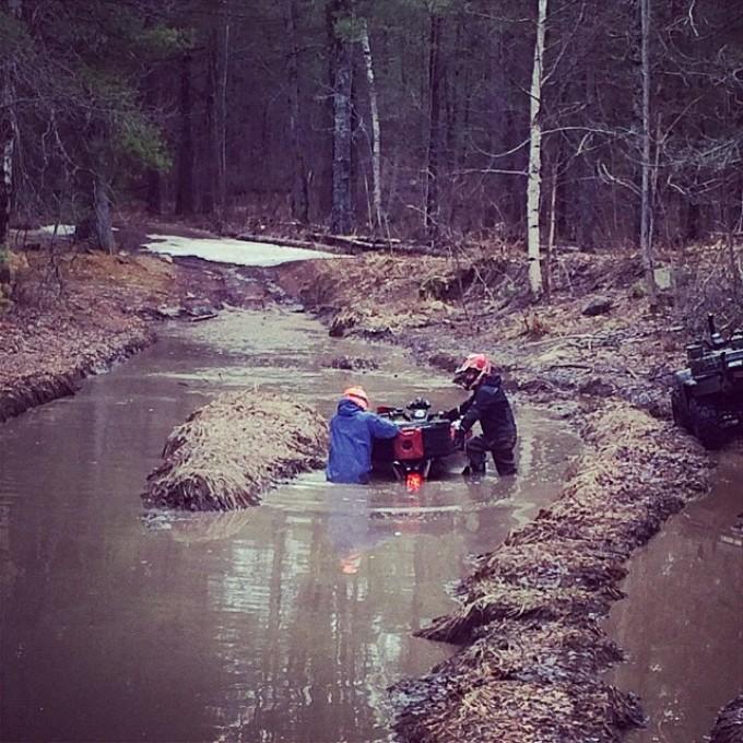 Stuck in a rut #swampdonkeys