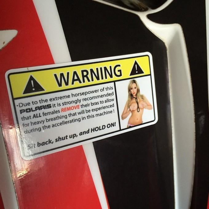 #polaris #scrambler850 #boobs the new sticker ads 3HP #swampdonkeys