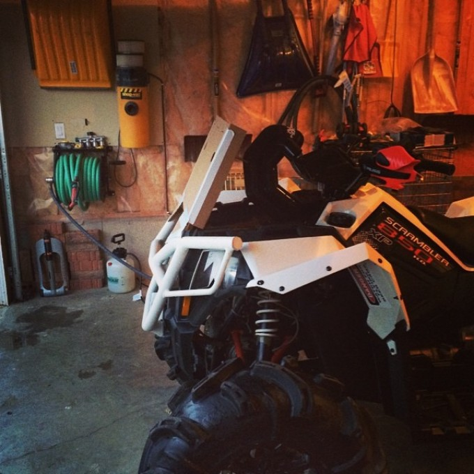Trying to keep the angles from the #polaris bumper #swampdonkeys