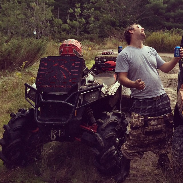 @chriscross4653 rocking out beside the #scrambler850 #swampdonkeys style
