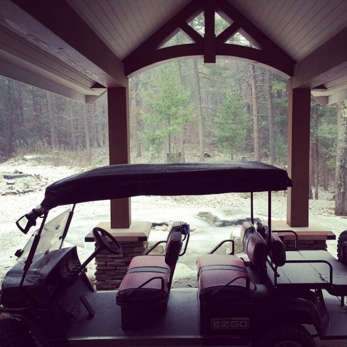 Time for a #rip #ezgo #snow #swampdonkeys #muskoka #cottage