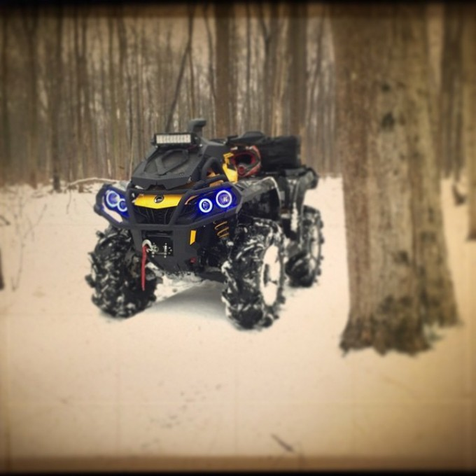 Out for a #rip 2015 #canam #outlander #xmr #800r #amrracing #tigertail #angeleyes #rigidindustries #gorillaaxle #SwampDonkeys Off Road Club: @webez9 @tomdrich @chriscross4653 @timmerlegrand @smithjaret