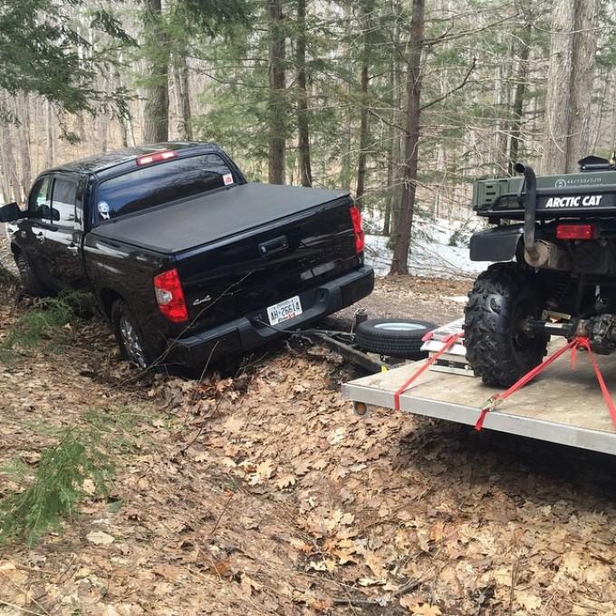 Who was driving @smithjaret #SwampDonkeys #BFM #tundra