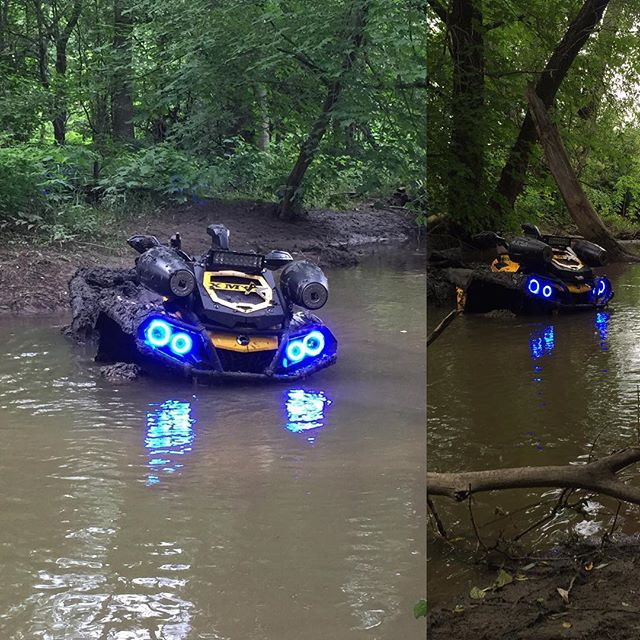 Out for a #rip 2015 #canam #outlander #xmr #800r #amrracing #tigertail #angeleyes #rigidindustries #gorillaaxle #SwampDonkeys