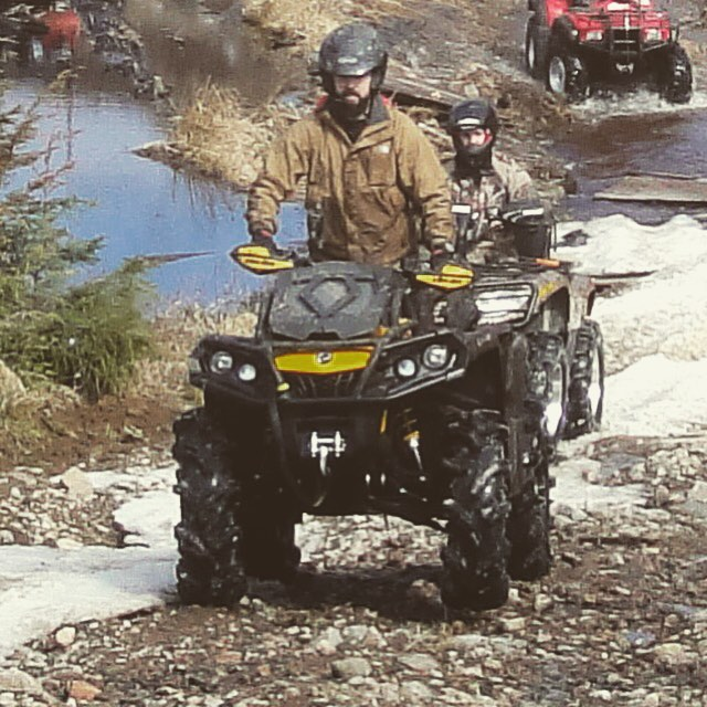 Is that Dan bazillion driving a quad LOL. Nope. #SwampDonkeys