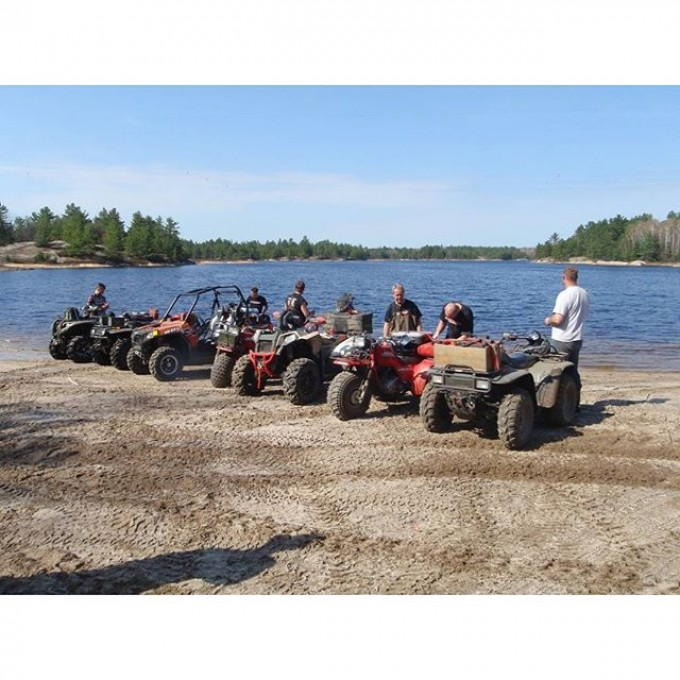 Our first group trip to #ardbeg #Ontario with the quads. #SwampDonkeys Off Road Club: @webez9 @tomdrich @chriscross4653 @timmerlegrand @smithjaret