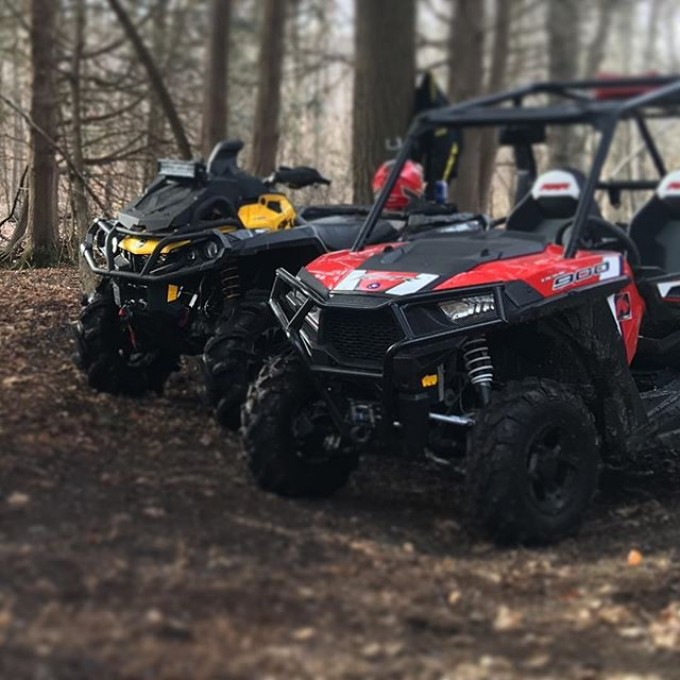 Out for a rip today at #GLATV trails with @webez9 #canam #outlander #xmr #800r #signsgaloreinc #tigertail #angeleyes #rigidindustries #gorillaaxle #SwampDonkeys Off Road Club: @webez9 @tomdrich @chriscross4653 @timmerlegrand @smithjaret @adam.stanley549