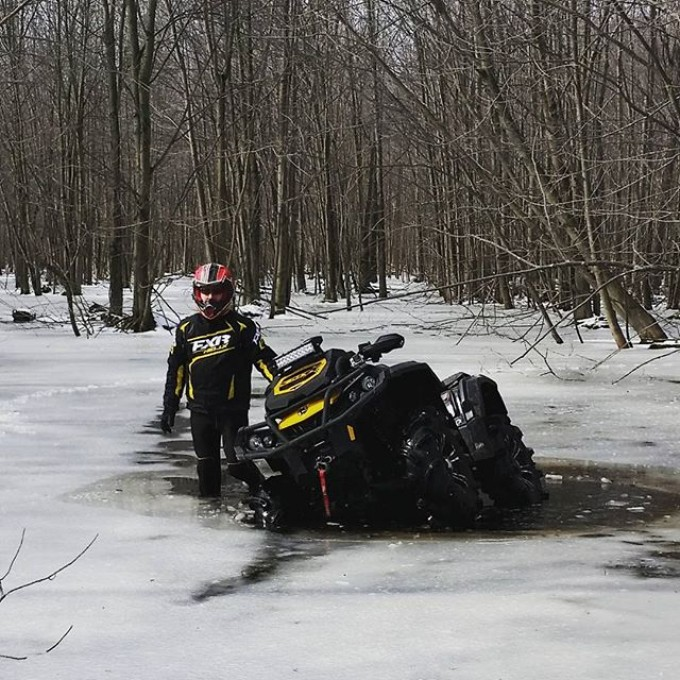 @rangerbob316 playing in the frozen swamp. #swampdonkeys
