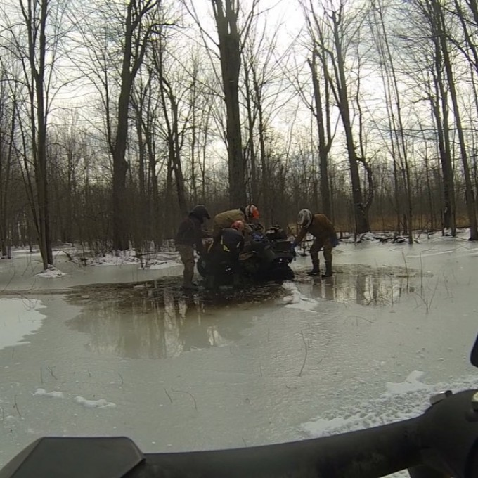 The #swampdonkeys fooling around on ice