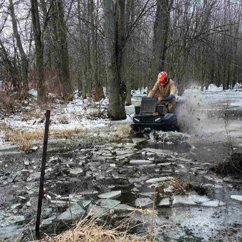 #swampdonkeys breaking the ice