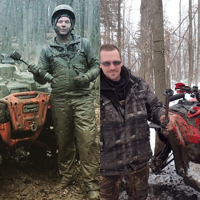 @sawmiller07 and Dustan standing proud with the carnage in hand. #broken #axle #Polaris #swampdonkeys #GLATV
