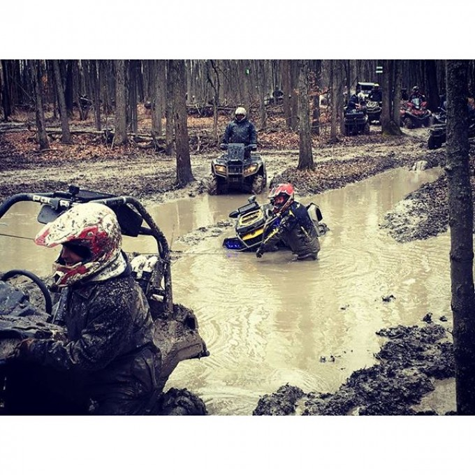 For the record I wasn't #stuck I was trying to #winch people in to the mud hole with me. #swampdonkeys #glatv photo credit: @martin_g_ace
