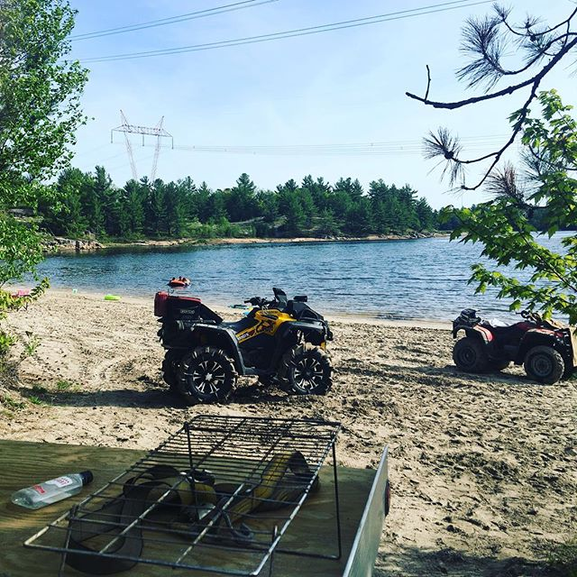 Cleaned off at the lake. What an awesome day today #SwampDonkeys #xmr #canam