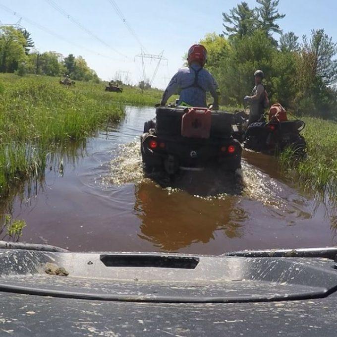 Favourite water crossing. Hard bottom, no hidden surprises. #swampdonkeys following @rangerbob316