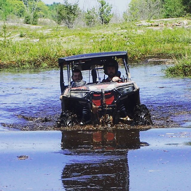 Little water doesn't scare the RZR.