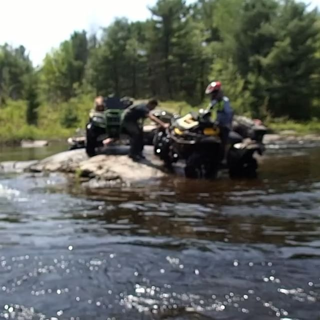 #magnetawan #river #crossing in the #xmr leading the pack of the #SwampDonkeys