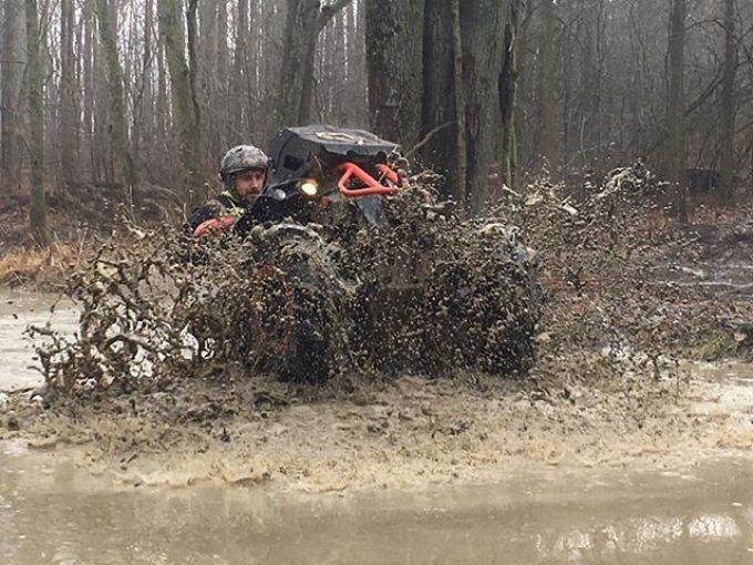 @KingBossQuad showing off for the camera on his #XMR #Renegade at #Hawksnest #GorillaAxle #SwampDonkeys