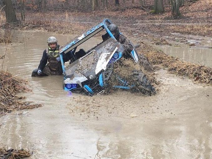 @cMikey42 walking thru a #mud and #water #hole at #Hawksnest  #CanAmMonsters #MaverickXMR #1000 #canam #XMR #GorillaAxle #SwampDonkeys