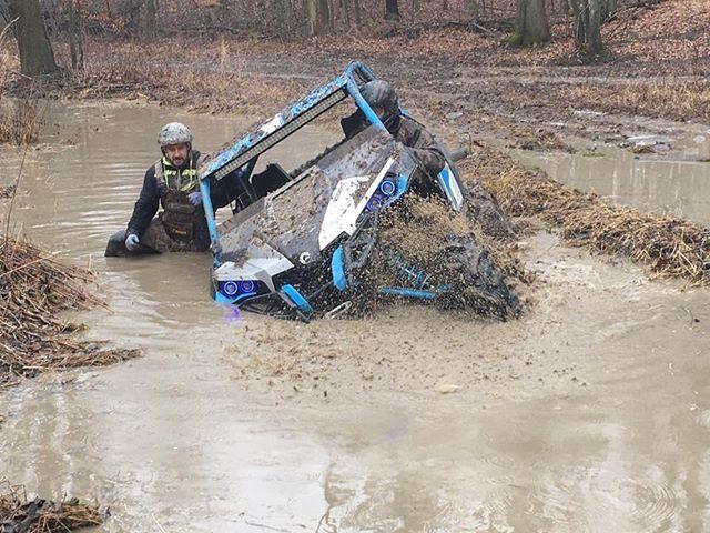 @cMikey42 walking thru a #mud and #water #hole at #Hawksnest #CanAmMonsters #MaverickXMR #1000 #canam #XMR #GorillaAxle #SwampDonkeys