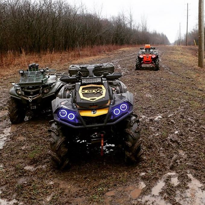 Took the #canam #outlander #xmr800 out for a rip yesterday and had a blast. Rained the whole day. #polaris #highlifter #yamaha #grizzly #swampdonkeys