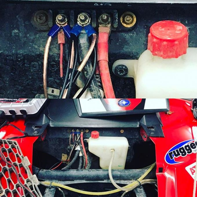 @swampdonkeygrizz #polaris #rzr wired together with speaker wire. #fail #swampdonkeys