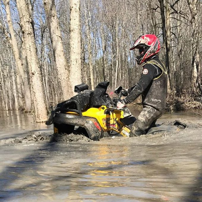 Going deep with #canam #outlander #xmr800 #swampdonkeys