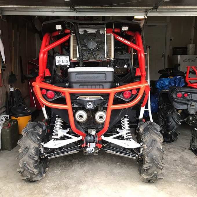Got the new @ct_raceworx rear bumper installed. Perfect fit. This thing is a beauty! #canam #maverickxmr #canammonsters #swampdonkeys