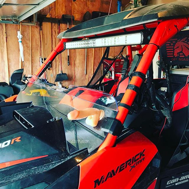 Got the new #maverickxmr #lightbar installed today. Can't wait to try it out tonight. Genuine #brp #canam #accessories better hold up. #swampdonkeys #1000 #canada