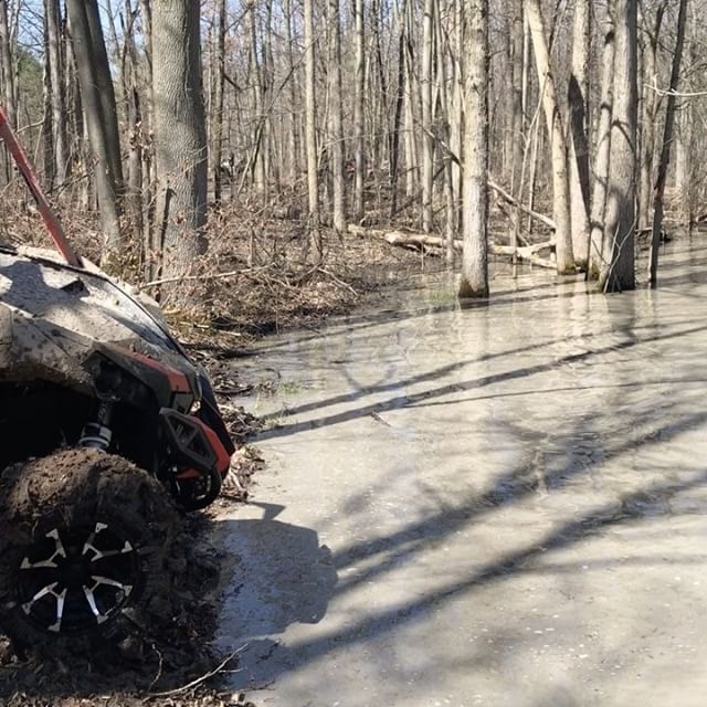 #maverickxmr playing in the water today. This guy is #swampdonkeys material. #canammonsters @martin_g_ace @sawmiller07