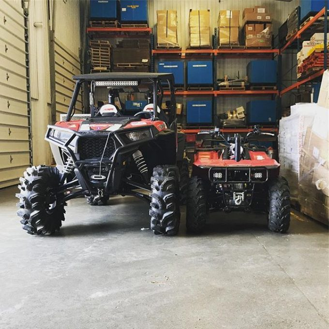 Having a hard time deciding which one to bring for our fall ride. Last year the rzr ended up with 3 slashed tires. Maybe I'll put the bayou in the back as a back up. #rzr900 #polaris #bayou300 #kawasaki #swampdonkeys