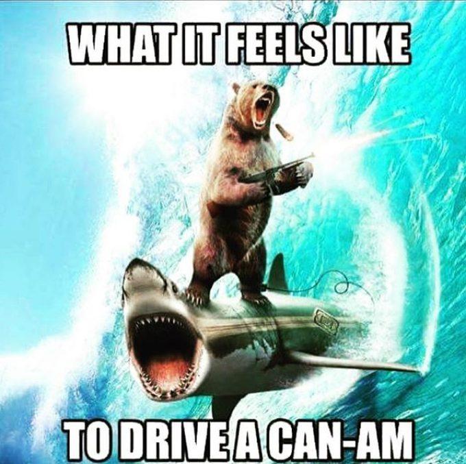 Enough said. #canam #canammaverickxmr #canamoutlander #swampdonkeys