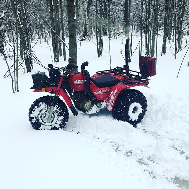 #snowday #ride with the #hondabigred #swampdonkeys #superbowl52