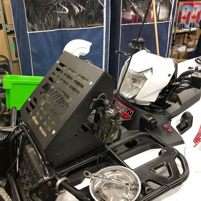 Got the @highlifter rad relocate installed on the #hondarubicon500. Nice built kit, room for a cooler now where the rad used to be. Prepping in full swing for #swampdonkeys off-road weekend.