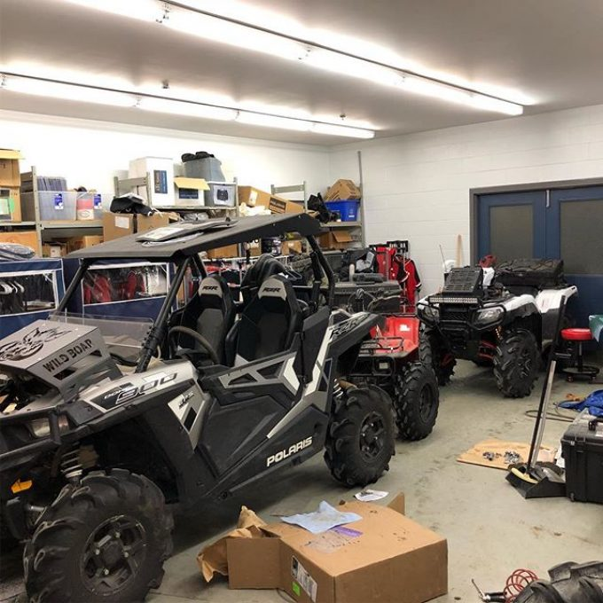 Last minute prep is the best kinda prep. Rad relocate going on the #polaris #rzr. #swampdonkeys