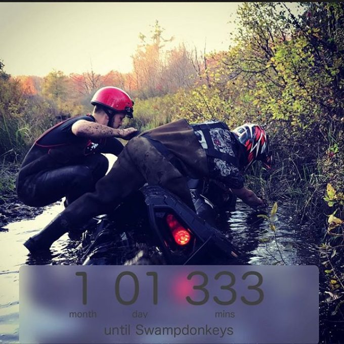 One month and counting. #swampdonkeys #polaris #honda #mud #northernontario