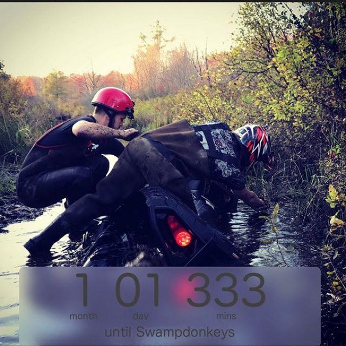 One month and counting. #swampdonkeys #polaris #honda #mud #northernontario