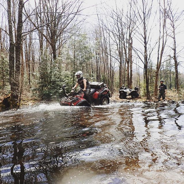 @chriscross4653 sending his #honda. #muskoka #fullsend #swampdonkeys