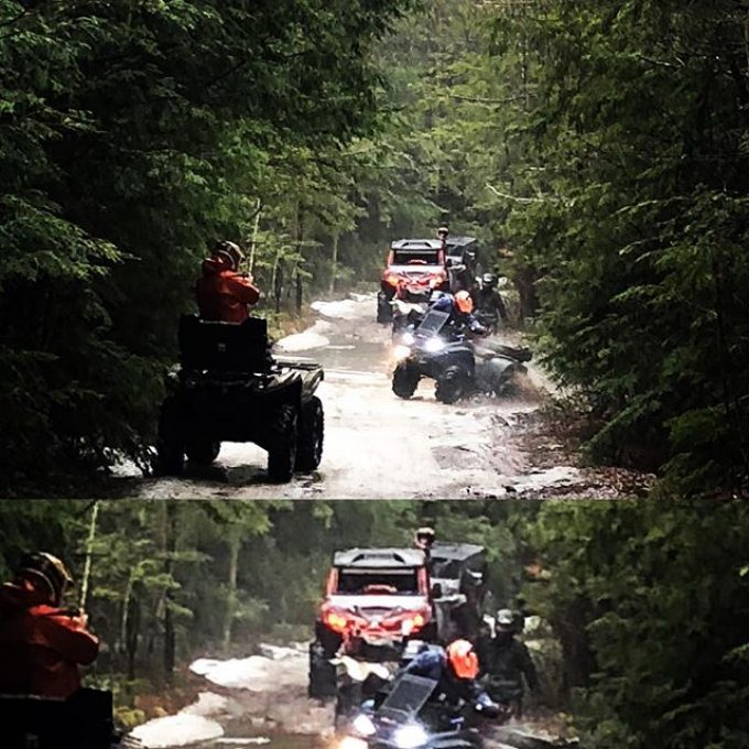 Awesome action shot of our group #CanAmMonsters #MaverickXMR #1000 #canam #XMR #GorillaAxle #SwampDonkeys