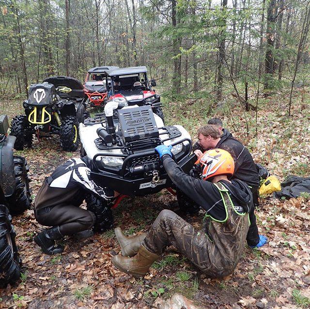 #honda down! Broken frame. #swampdonkeys